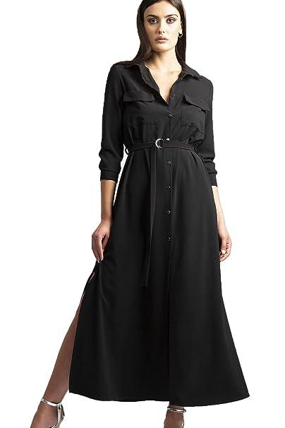 9d88d39364 Feel plus 13 Abito Chemisier (S IT Donna): Amazon.it: Abbigliamento