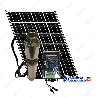 New 12v 24v submersible dc solar well water pump solar battery 3 210w solar submersible deep well pump 1x 195w solar panel 80 feet ccuart Images