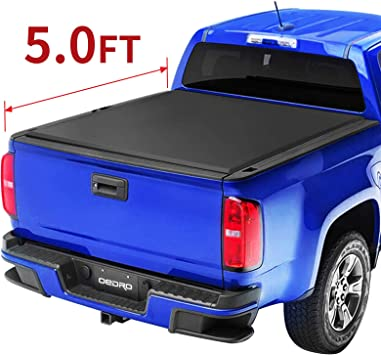 Amazon Com Oedro Tri Fold Truck Bed Tonneau Cover Compatible With 2015 2020 Chevy Colorado Gmc Canyon With 5 Feet Bed Fleetside Automotive