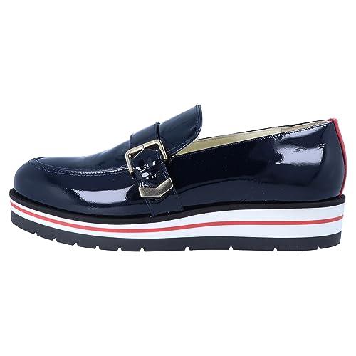 Tommy Hilfiger Gigi Hadid Leather Moccasin para Mujer Slip-On Azul, Tamaño:42: Amazon.es: Zapatos y complementos