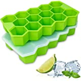WETONG Ice Cube Trays 2 Pack, Easy-Release Silicone Ice Cube Trays With Lids and Flexible 28-Ice Trays, BPA Free…