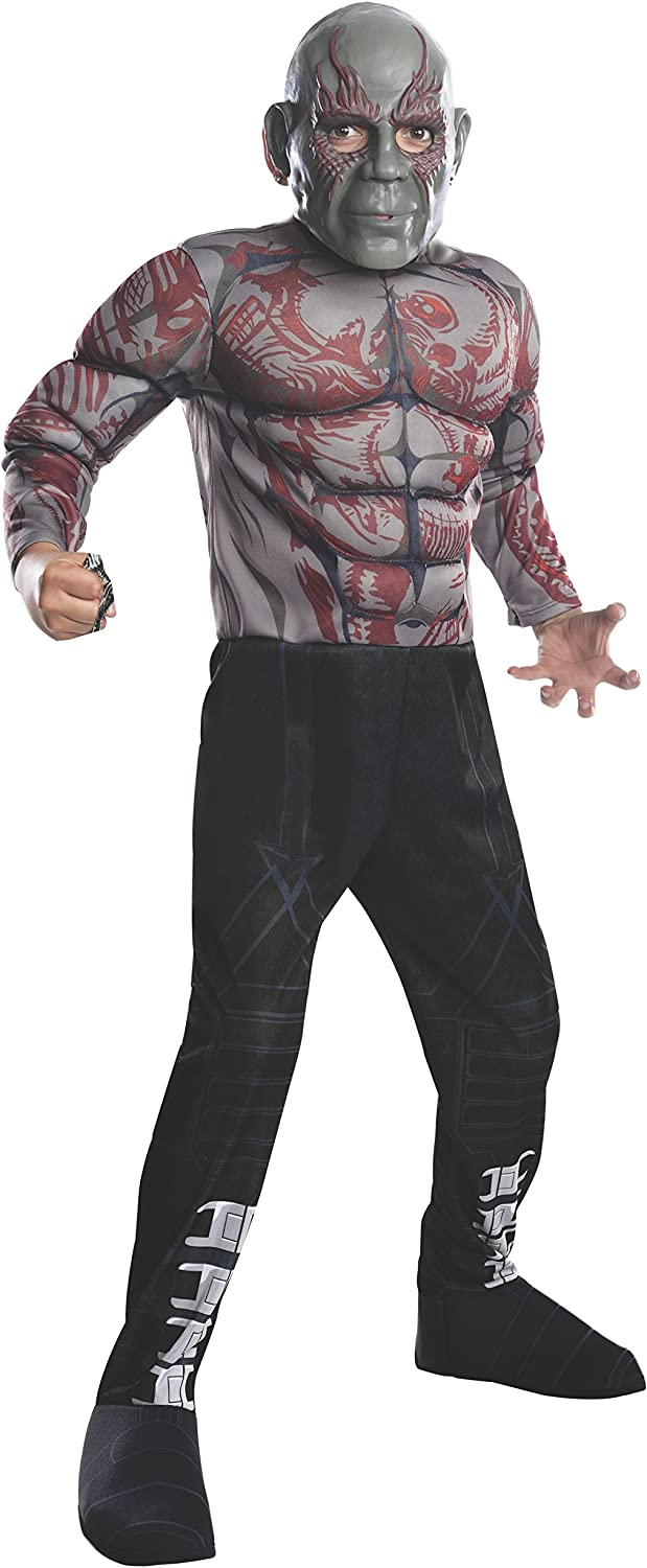 Rubies Guardians of The Galaxy Deluxe Drax The Destroyer Costume, Child Medium