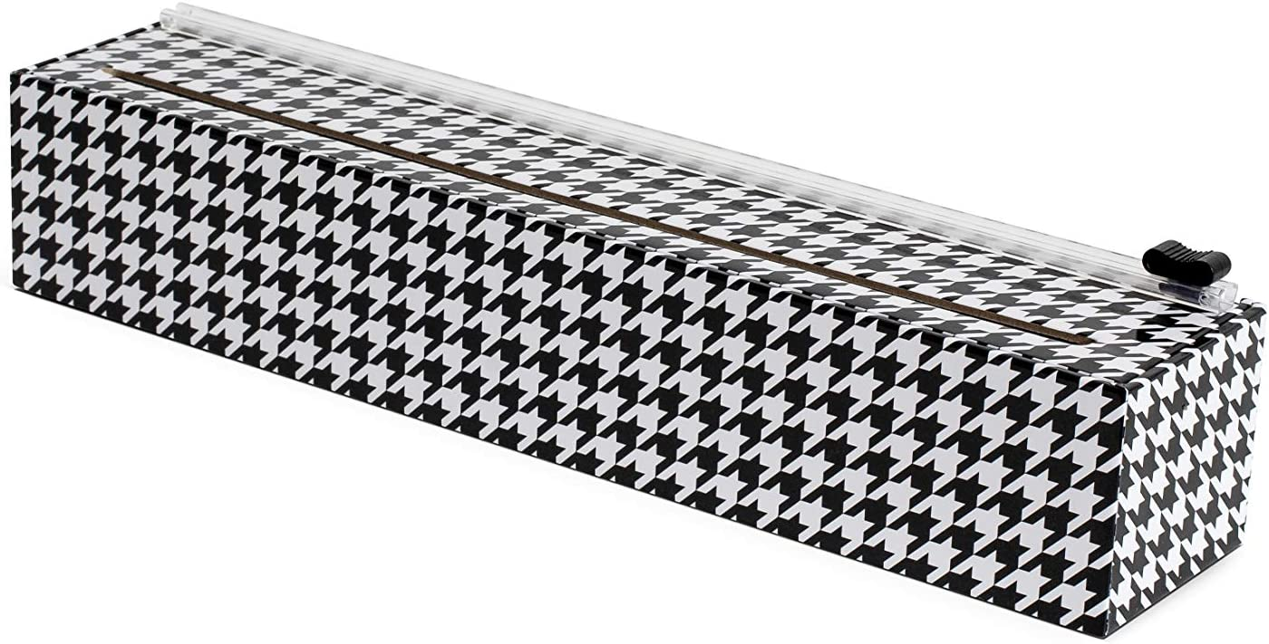 ChicWrap Houndstooth Plastic Wrap Dispenser with 12