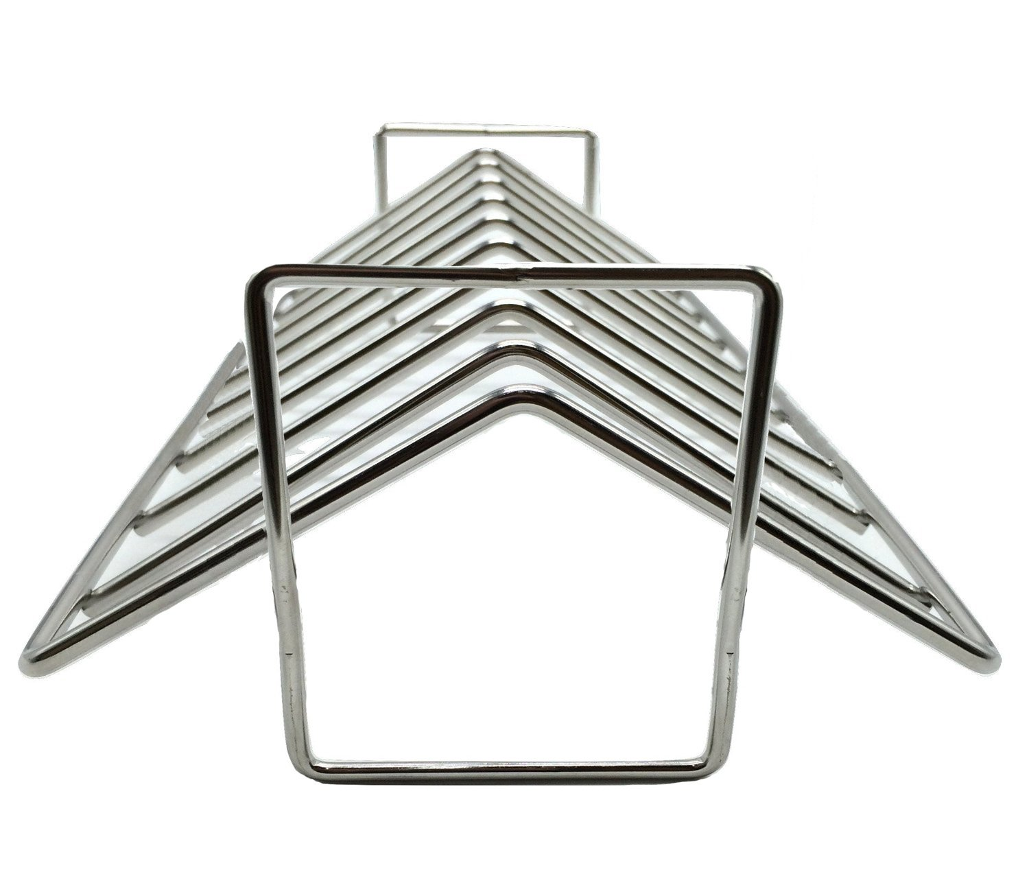 BBQ funland Stainless Steel Rib and Roasting Rack. For work on Big Green Egg, Kamado Joe, Vision, Grill Dome, Primo grills and all indoor ovens