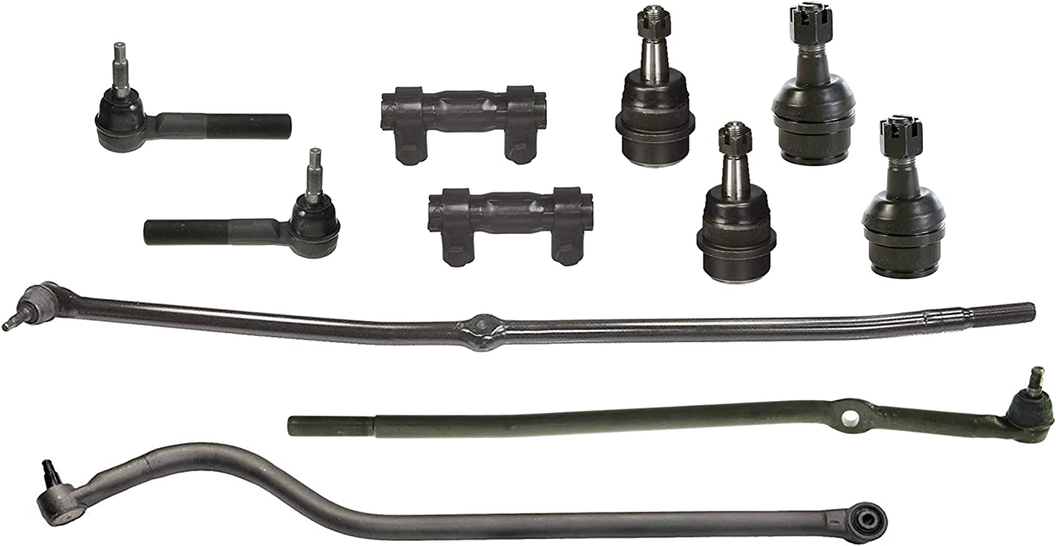 11 Pc Front Track Bar Inner Outer Tie Rod Ends Adjusting Sleeves Ball Joints Steering Suspension Kit For Dodge Ram 1500 4x4 4wd Models 00 01 Automotive