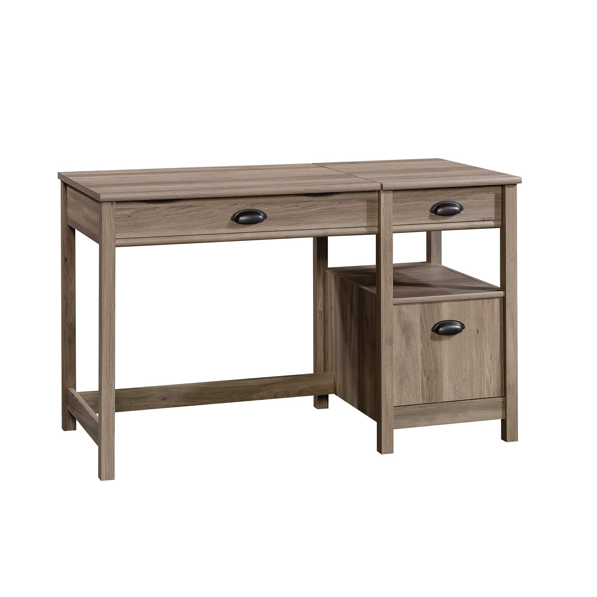Sauder 422379 Harbor View Lift Top Desk, L: 50.00'' x W: 23.47'' x H: 30.75'', Salt Oak finish