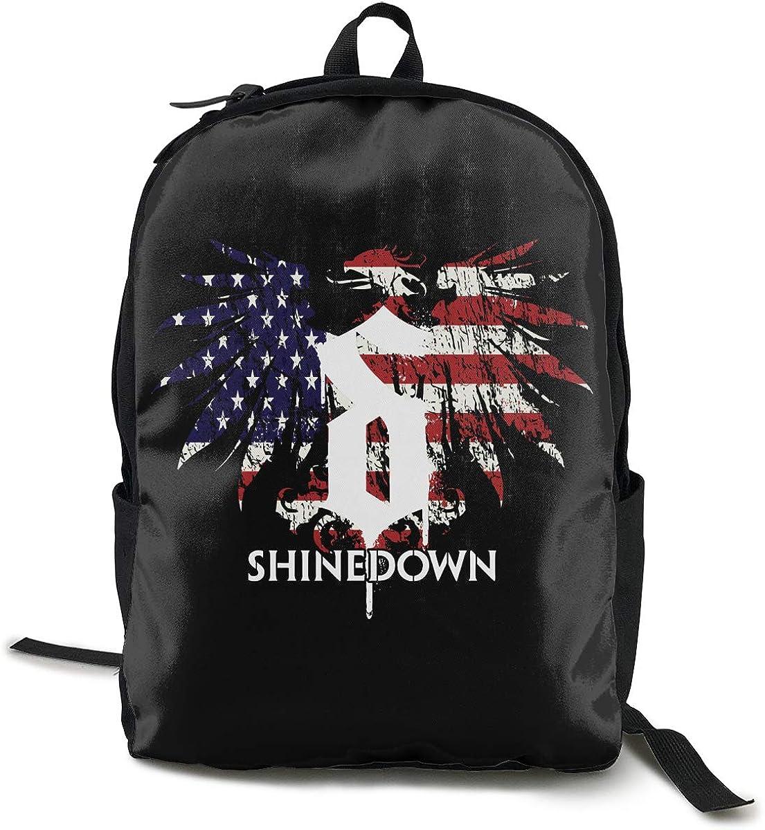 Shinedown Backpack Men Women Custom Fashion Travel Daypack Backpack School Bookbag
