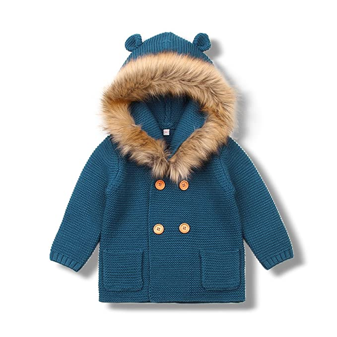 MiMiXiong Cárdigan Suéter de Punto para Bebés Chaquetas y Abrigos Ropa de  Tejer  Amazon.es  Ropa y accesorios fb8bb068fd0