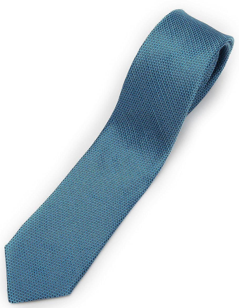 Emerald Blue Fresco Hand-woven Necktie