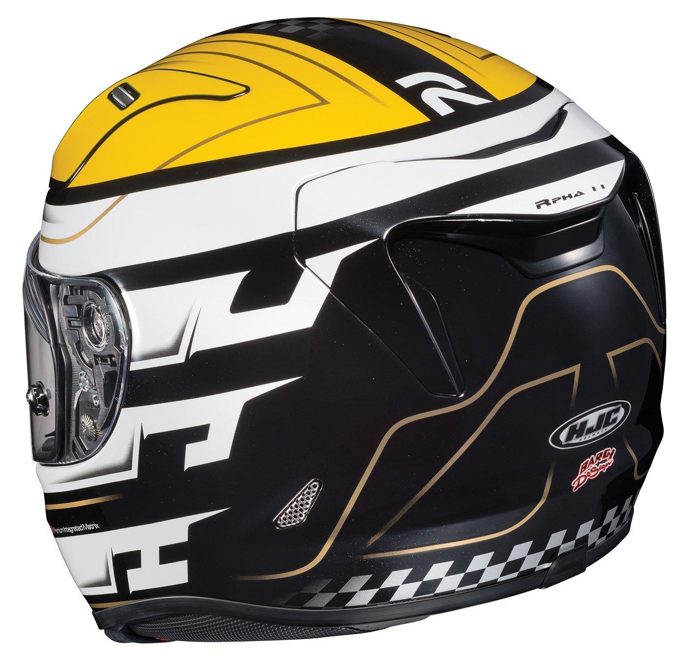 HJC Helmets 1654-933 Yellow//White//Black Medium Rpha-11 Pro Skyrym Helmet