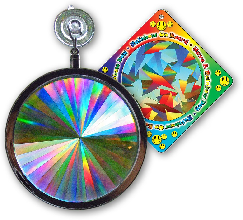 Suncatcher - Axicon Rainbow Window - Includes Bonus''Rainbow on Board'' Sun Catcher
