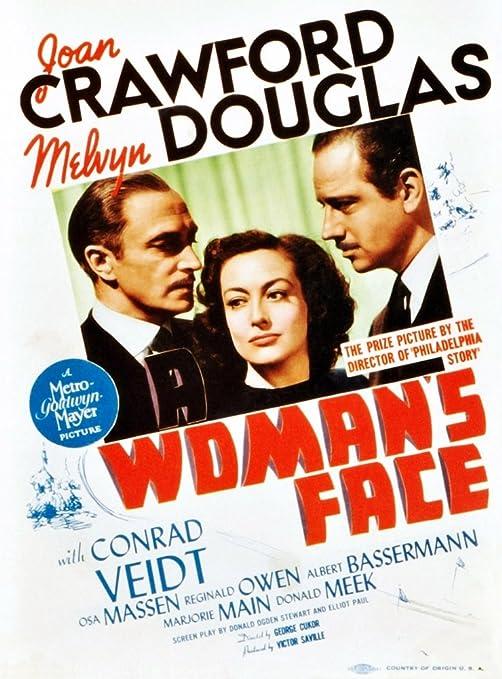 Amazon.com: Posterazzi A Woman'S Face From Left: Conrad Veidt Joan Crawford  Melvyn Douglas On Midget Window Card 1941. Movie Masterprint Poster Print,  (24 x 36): Posters & Prints