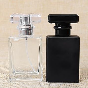 Botella de perfume, Sorliva, botella de perfume de vidrio transparente, portátil, cuadrada