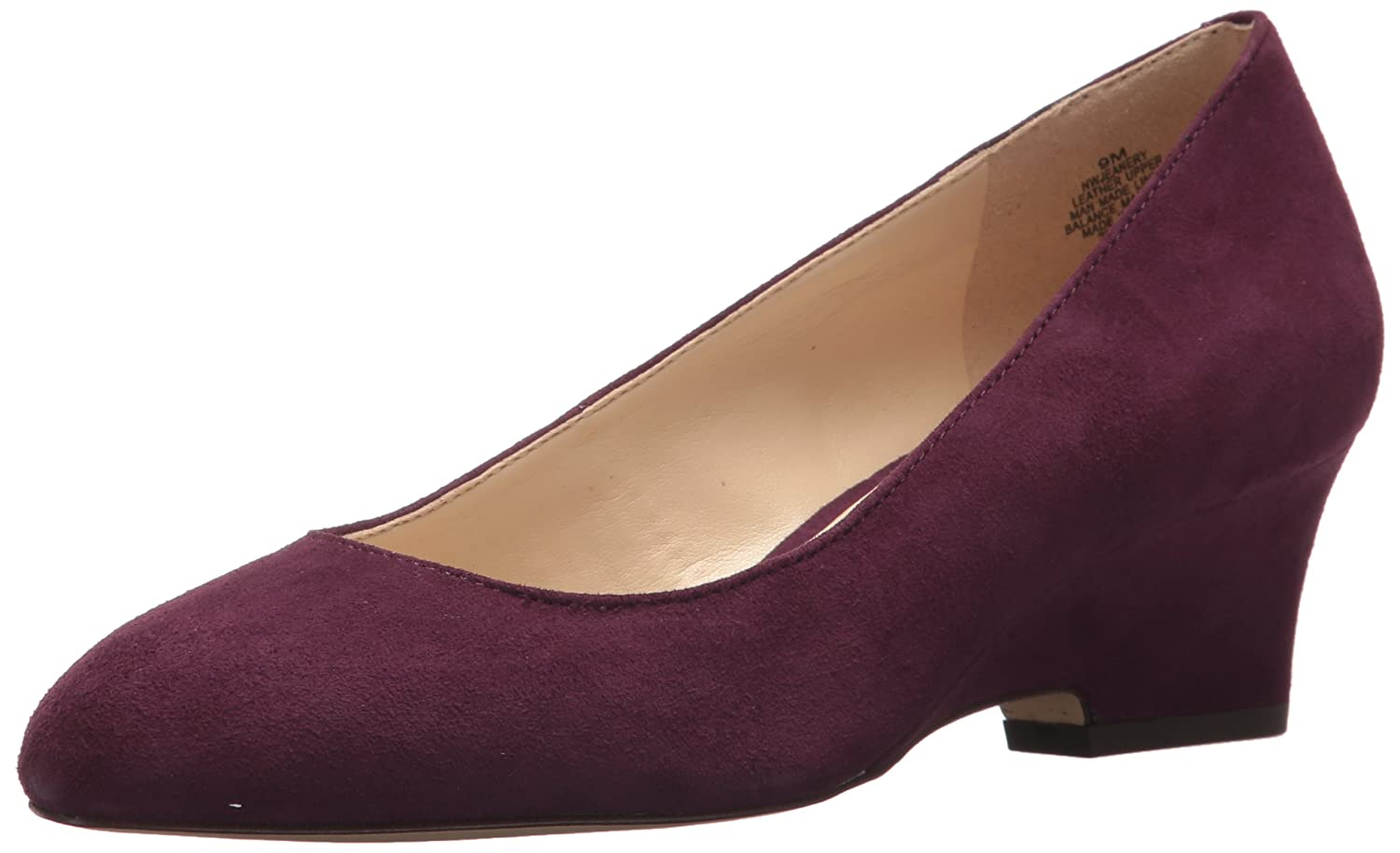Nine West Women's Jeanery Suede Pump B0733L6GT2 10.5 B(M) US|Dark Purple Suede