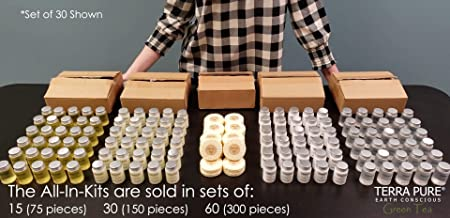 Terra Pure Green Tea 1-Shoppe All-In-Kit Hotel Size Amenities Set Hotel AirBnB VRBO Vacation Rental Soap Set 75 pcs