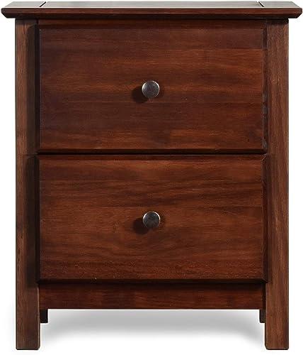 Best modern nightstand: Grain Wood Furniture Shaker 2-Drawer Cherry Solid Wood Nightstand