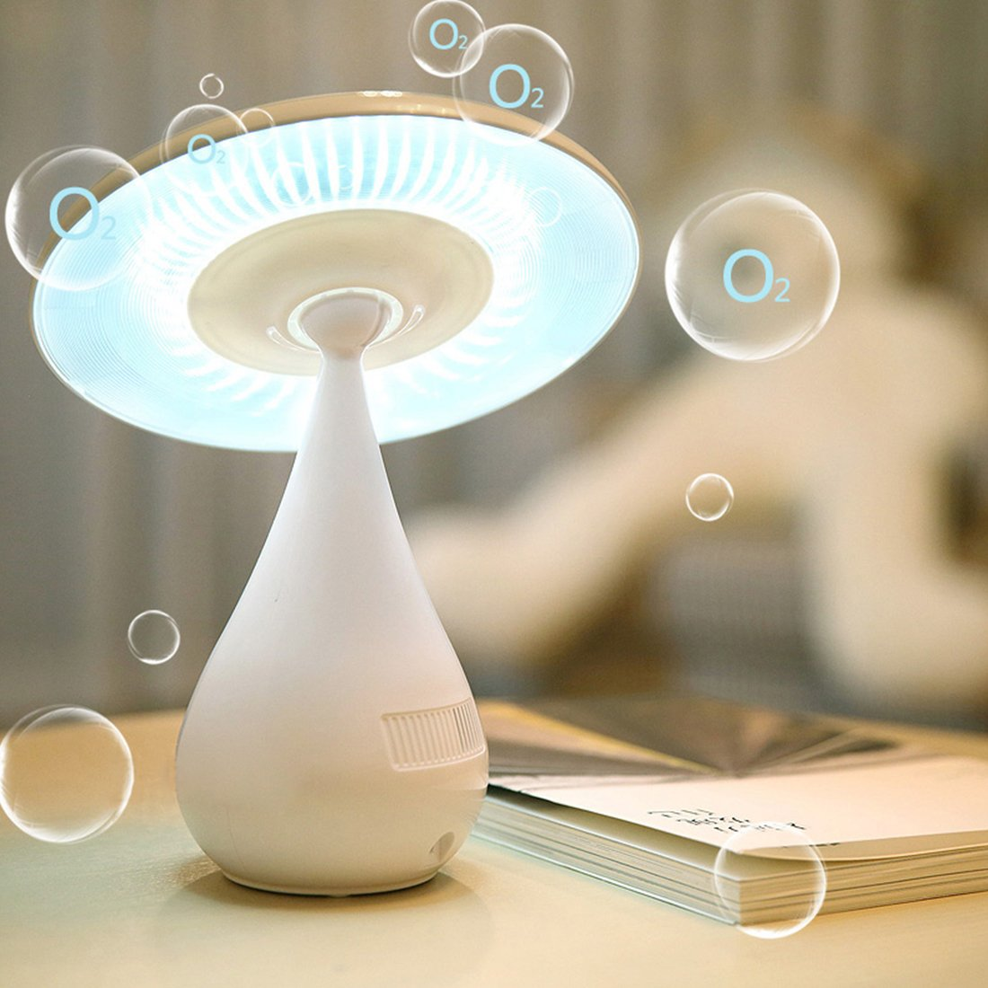 Adjustable Mushroom Touch Air Purifying LED Lamp Night Light Lamp Kids USB Charging Decoration