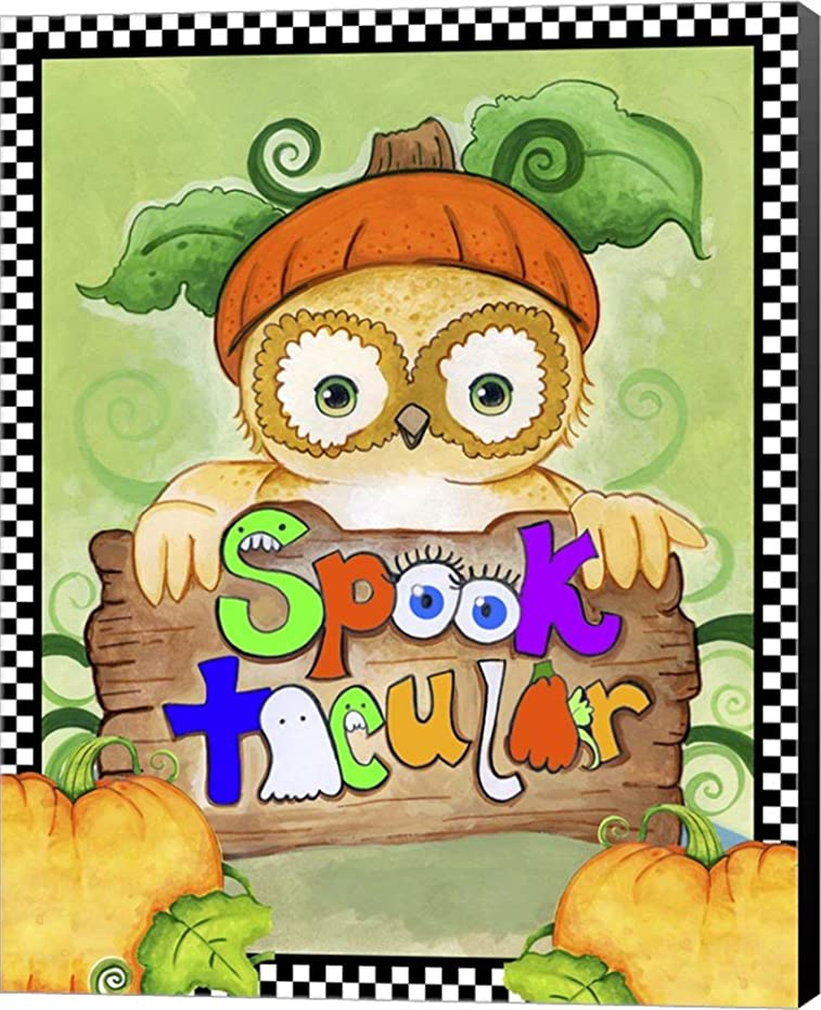 pooktacular Owl by Valarie Wade Canvas Art Wall Picture,