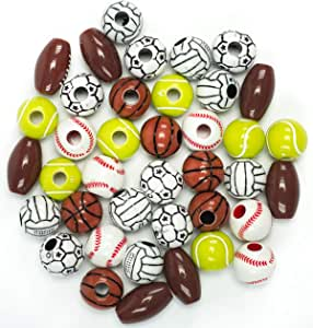 S/&S Worldwide Large Wooden Beads bag of 1000