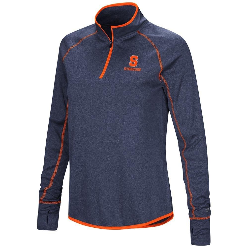 Colosseum レディース シラキュース オレンジ クォータージップ 長袖シャツ B07G3H4LW3  Large