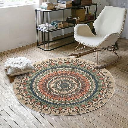 ZGP Interior Carpet Round Rug Living Room Bedroom Sofa Study Wardrobe Rug  Foot Pad Office Computer
