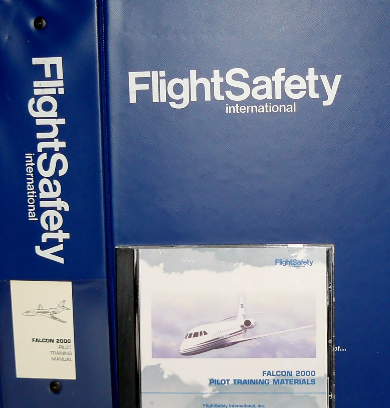 Dassault Falcon 2000 Complete Training Guide with 2 Training Manuals, 1  Pilot Emergency Checklist, 1 Pilot Normal Checklist, and 1 Falcon 2000 CD  Rom ...