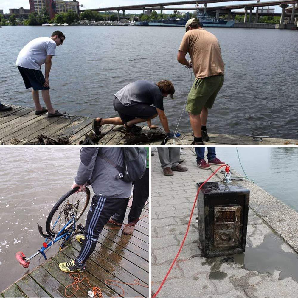 60mm Durchmesser Super Strong Fishing Magnet mit Ringschraube f/ür Magnetangeln und Bergung im Fluss Yxs Double Side Combined 320KG Pulling Force Runder Neodym-Magnet