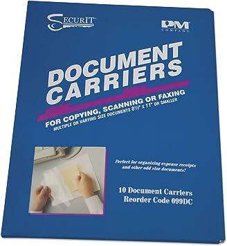 Amazon Com Accufax Fax Document Carriers Reusable 8 1 2 X11 White 10 Box Pmf099dc Printer Accessories Electronics