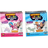 102 PAGES TRAVEL SIZE Uppercase + Lowercase Alphabet A-Z Dot Marker Activity Sheets or Coloring Book