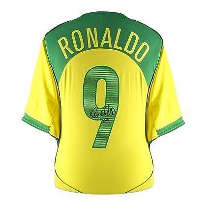Ronaldo de Lima Signed 2004-06 Brazil Home Jersey
