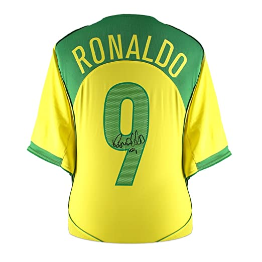 Ronaldo de Lima Signed 2004-06 Brazil Home Jersey at Amazons Sports Collectibles Store