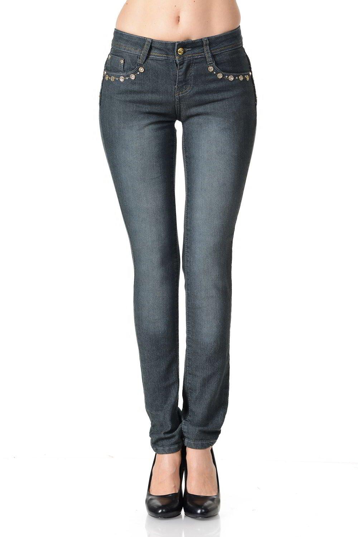 Pasion Women's Jeans - Style G78A - Grey - Size 0