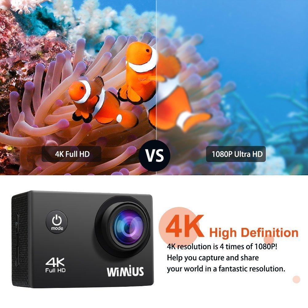 Wimius Ai8000 Action Cam 4k Wasserdichte Wifi Hd Action Kamera Touch Screen Bequem Und Einfach Zu Tragen Foto & Camcorder
