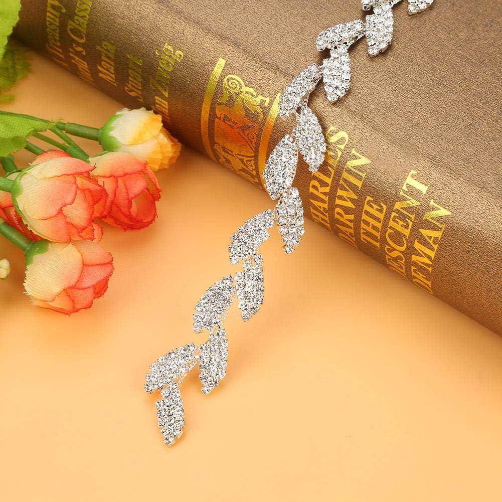 2.6oz Cinta de Diamantes de imitaci/ón Zapatos y Sombreros de Textiles para el hogar Aufee Pegue f/ácilmente el Rollo de Cinta de Diamantes de imitaci/ón 75g