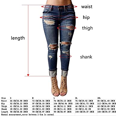 46e360cdf91 Rela Bota Women s Knee Destroyed Casual Destroyed Distressed Skinny Denim  Jeans at Amazon Women s Jeans store