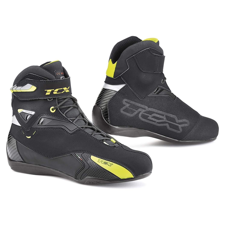 TCX Scarpe Stivali Moto 9505W Rush Waterproof Nero Giallo Fluo tg 44//10