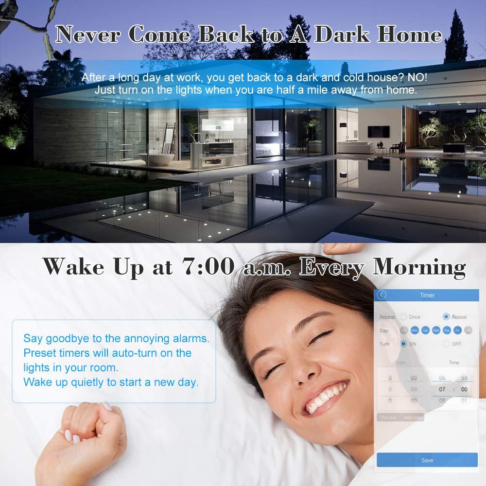 eWeLink Interruptor WiFi 4CH AC85-250V RF WiFi Smart Switch Compatible con  Alexa /& para Google Home//Nest Smart Home