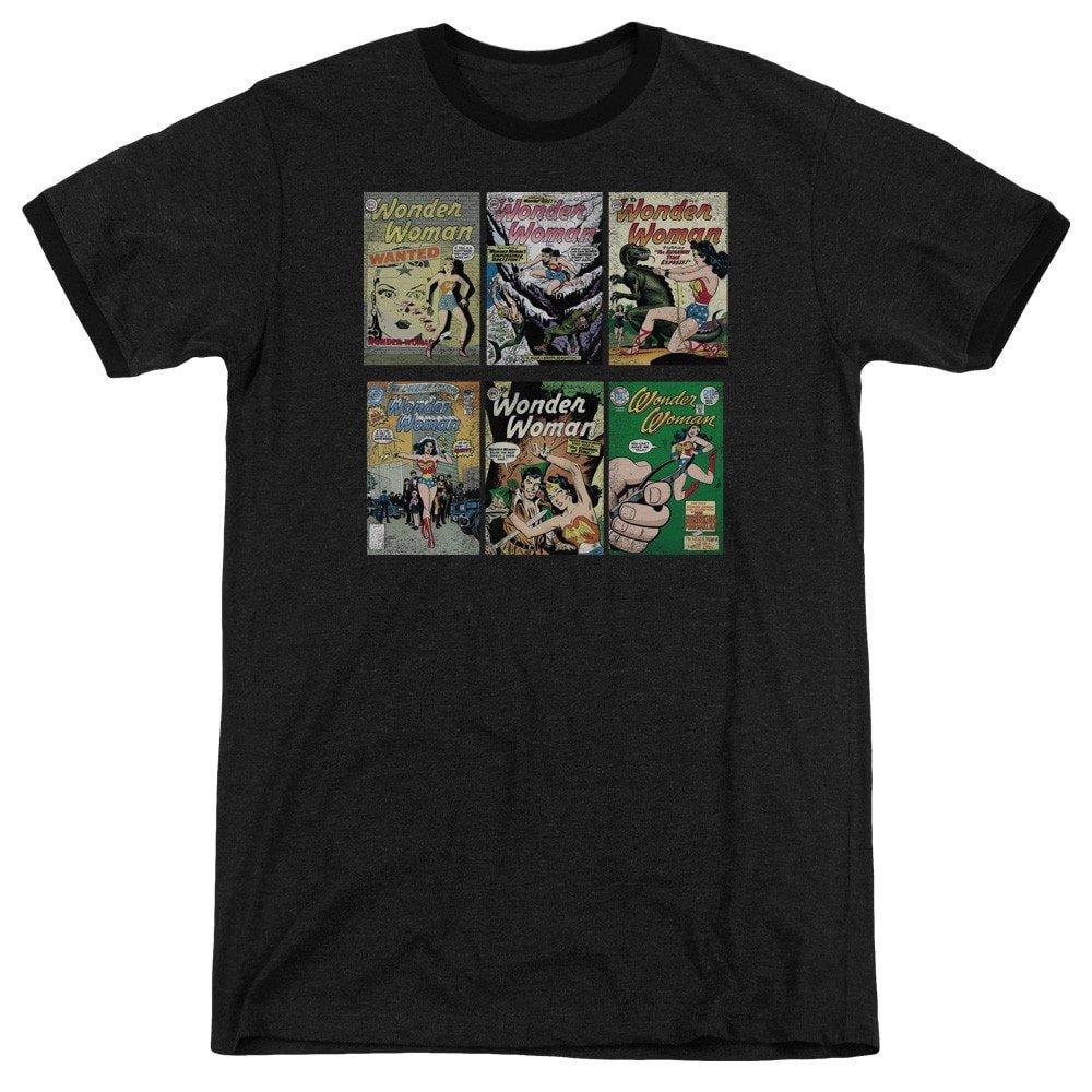 Shirt M Ww Covers Adult Ringer T DC Comics