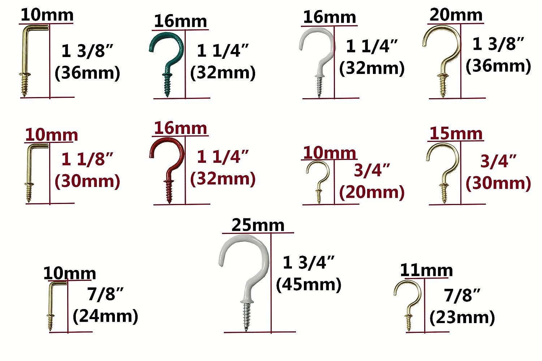 Schrauben Haken und N/ägel Sortiment /& Set Haken-Sortiment Muttern