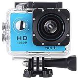 Vemont Action Kamera 2,0 Zoll Bildschirm, WIFI 12MP Full HD 1080P 30m/98 Fuß Wasserdichte Sports Kamera 170°Weitwinkel mit Zubehör Kits