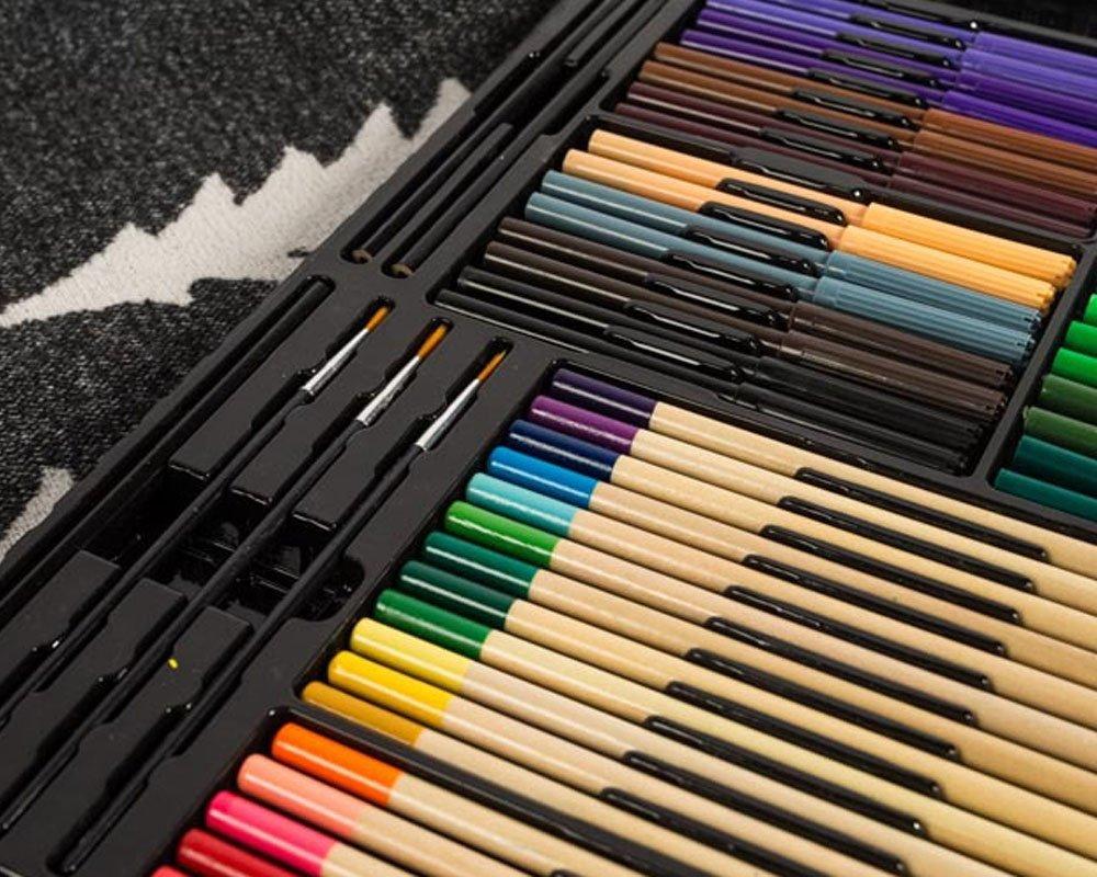 BoTen Watercolor Pen Crayon Color Pencils Painting Portfolio Set (258 Color) by BoTen (Image #5)