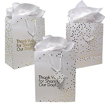 Amazon 12 Gift Boutique Large Wedding Gift Bags Metallic Gold