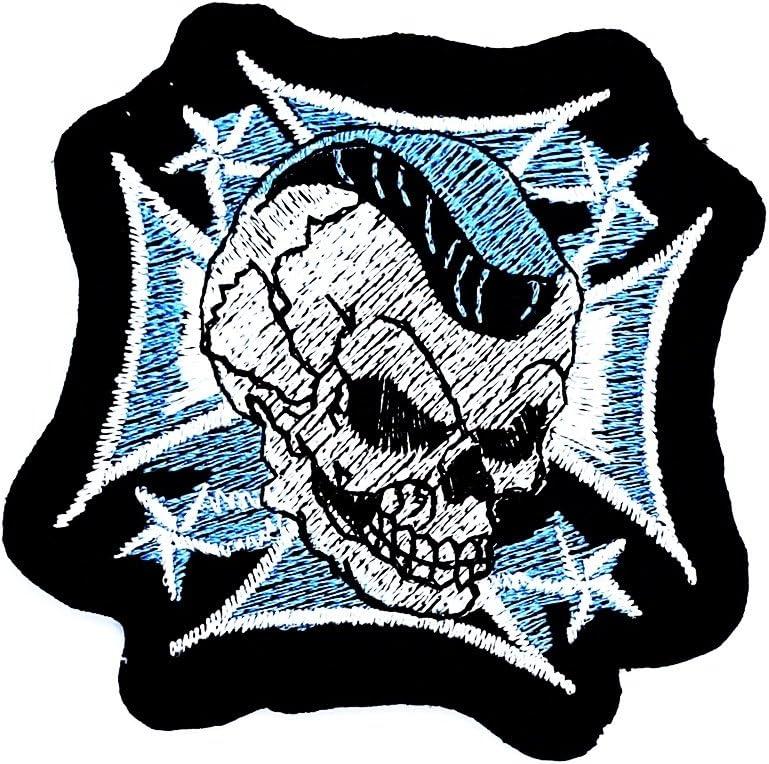 Choppers Cross Skull Rider - Parche para motocicleta, ideal para adornar vaqueros, sombreros, bolsos, chaquetas y camisas.: Amazon.es: Juguetes y juegos