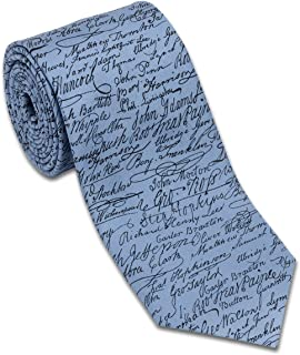 product image for Josh Bach Men's Signatures Declaration of Independence Silk Necktie Made in USA