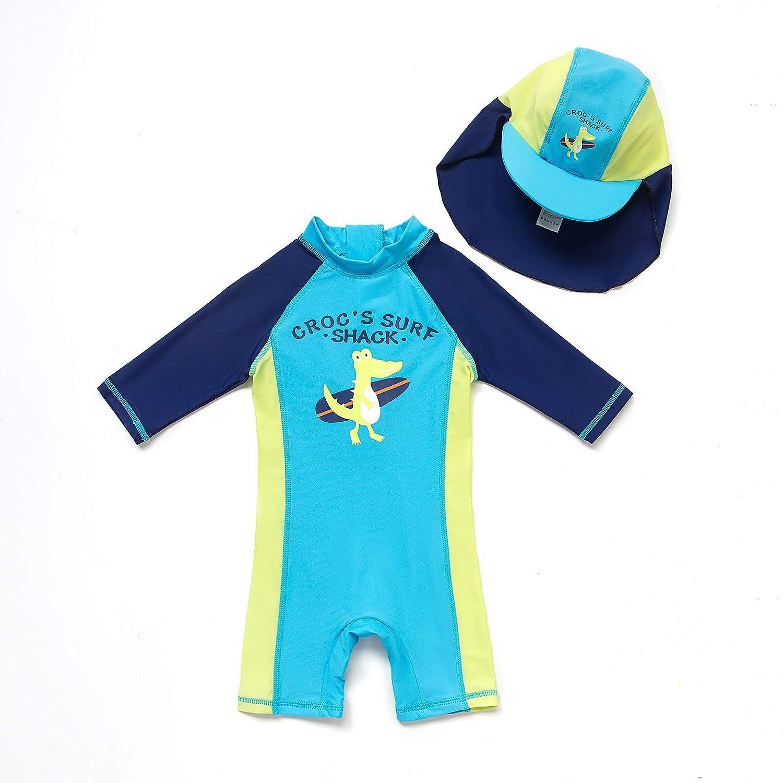 Bonverano Baby Junge EIN st/ück 3//4 der /ärmell/änge UV-Schutz 50 Badeanzug MIT Einem Rei/ßverschluss