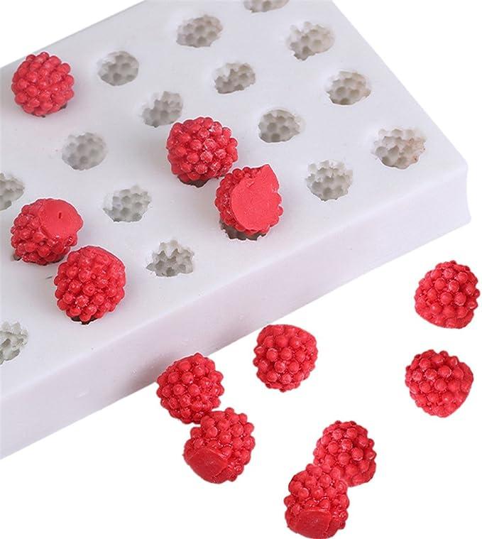 Mini Grape Fruit Silicone Mould Baking Emboss Fondant Icing Cupcake Chocolate BA