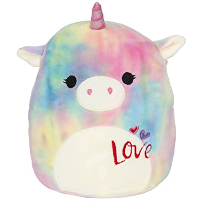 Squishmallow Kellytoy 2020 Valentines Squad 8 Inch Esmeralda Rainbow Unicorn Plush Doll: Toys & Games