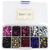 5000pcs/box,500pcs/color Mixed 10 Colors Mixed Sizes Glass Rhinstones Flatback Hot Fix Stones