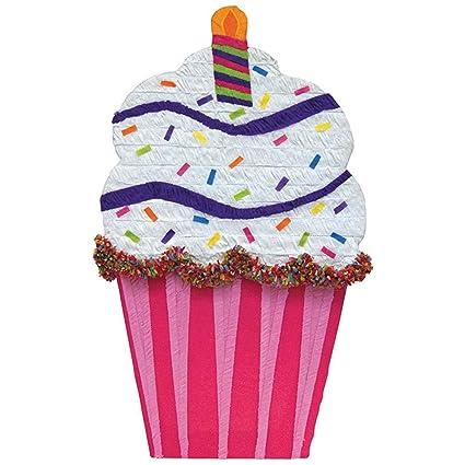YA OTTA PINATA - Cupcake Giant Pinata - White/Pink