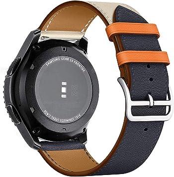 MroTech Pulsera Piel 22mm Compatible para Samsung Galaxy Watch ...